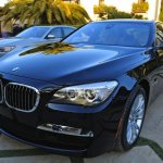 2013 BMW 7 Series front fascia and headlight