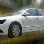 Skoda Superb facelift in China