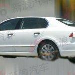 Skoda Superb facelift rear three quarters angle