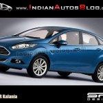 2013 Ford Fiesta sedan facelift rendering