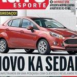 Auto Esporte 2013 Ford KA sedan rendering