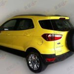 Ford EcoSport yellow paint work