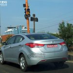 Hyundai Elantra caught uncamouflaged in Chennai