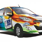 Hyundai i10 with India colors on the body