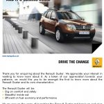 Renault Duster launch on the verge