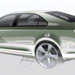 Skoda Rapid Euro model sketch
