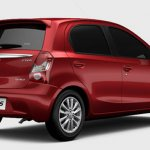 Toyota Etios hatch rear three quarters for Brazil market