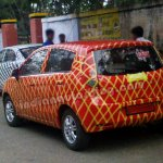 Chevrolet Sail orange body color rear