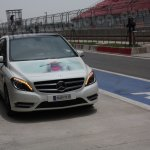 Mercedes B Class Buddh International Circuit waiting in the pitlane