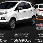 Novo Ford EcoSport 2012 price in Brazil