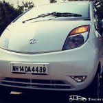 Tata Nano head-on white