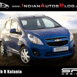 Chevrolet beat India facelift