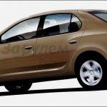 2013 Dacia Logan side profile rendering