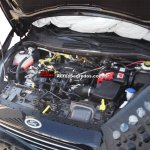 2013 Ford Fiesta facelift spyshot engine compartment