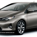 2013 Toyota Corolla front rendering