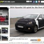 2014 Hyundai i10 spyshot screen capture