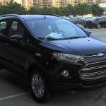Black Ford EcoSport front three-quarters