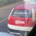 Ford Figo facelift rear fascia spyshot