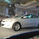 Hyundai Elantra India launch car rolls on to the stage