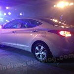 Hyundai Elantra India launch rear with lights on