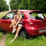 Nissan Micra Elle rear profile