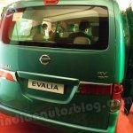 Nissan Evalia rear fascia