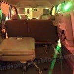 Nissan Evalia seats folded