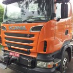 Scania V8 R500 Truck spied in India