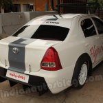 Toyota Hyper Etios rear three quarters