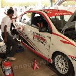 Toyota Etios Motor Racing exhibition race - first casualty