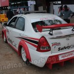 Toyota Etios Motor Racing safety car rear three quarters