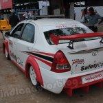 Toyota Etios Motor Racing safety car rear three quarters