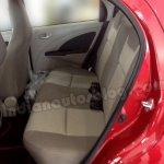 Toyota Etios Liva beige interior rear seat