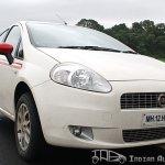 2012 Fiat Punto Sport front fascia
