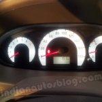 Mahindra Quanto speedometer and tachometer