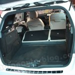 Mercedes B Class luggage space with seats folded