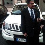 Mr Anand Mahindra XUV500 Italy
