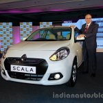 Renault Scala with Mr Marc Nassif posing for Indian Autos Blog