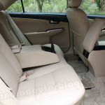 Toyota Camry rear seat and storage pockets