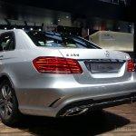 2014 Mercedes E Class live images rear three quarters