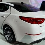 2014 Kia Optima Hybrid rear quarter left