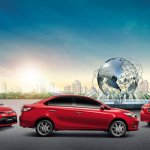 2014 Toyota Vios in a roundabout