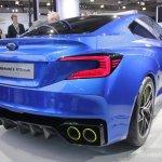 Subaru WRX concept rear three quarters