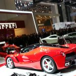 La Ferrari Geneva motor show live rear quarter