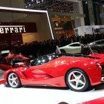 La Ferrari Geneva motor show live rear