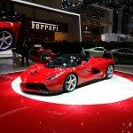 La Ferrari Geneva motor show live front quarter