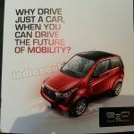 Mahindra e2o brochure scan