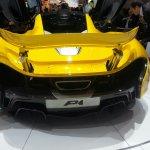 McLaren P1 Geneva Motor show live rear diffuser