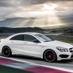 Mercedes CLA 45 AMG on the move