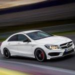 Mercedes CLA 45 AMG on track